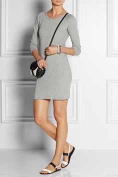 JAMES PERSE Cotton French terry sweatshirt dress $135