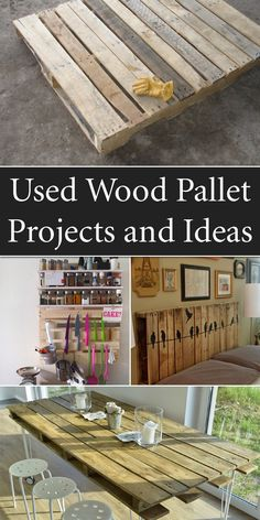 "1001tips: ""14 Interesting Ways Of How To Reuse Old Wooden Pallets """