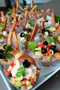 Salade tunisienne en verrine, avec une mousse de thon  (Source: Milles & une saveurs)
