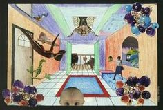 Surreal Rooms 7th grade-follow-up on 1 pt perspective/add in surrealism collage elements!