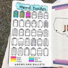My current road trip themed mood tracker! Whats your theme this month? Id love to hear! Monthly Bullet Journal Layout, Bullet Journal Mood Tracker Ideas, Bullet Journal Books, Bullet Journal Ideas Pages, Bullet Journal Inspiration, Journal Pages, Bff Birthday Gift, Day And Mood, Journal Quotes