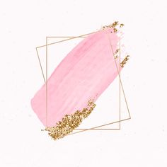 Gold rectangle frame on pink watercolor background vector | premium image by rawpixel.com / Aum / sasi Flower Background Wallpaper, Gold Background, Cute Wallpaper Backgrounds, Flower Backgrounds, Watercolor Background, Background Patterns, Wallpapers, Pink Wallpaper Iphone, Gold Wallpaper