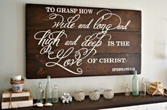 To grasp how wide and long and high and deep is the love of Christ || Aimee Weaver Designs