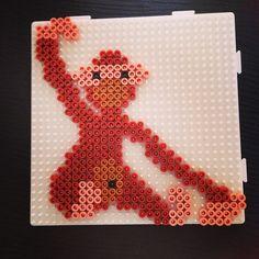 Monkey (Kay Bojensen design) perler beads by brammingborgvej24