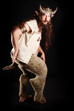 Satyr horns by Organic Armor. Satyr pants by Reyen Designs. Photo Modern Scribe.
