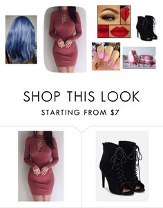 """happy valentines day"" by cupcakefriend11 on Polyvore featuring JustFab"