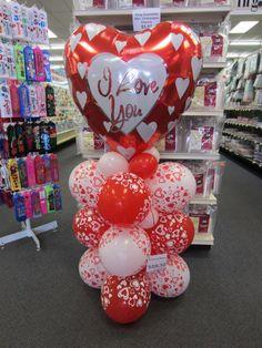 Fascinating Centerpieces Ideas For Valentines Day 12 Valentines Balloons, Valentines Day Party, Valentines Day Decorations, Birthday Balloons, Valentine Crafts, Love Balloon, Balloon Gift, Ballon Arrangement, Cute Birthday Gift
