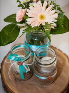 Mason Jar Wedding (Tiffany Blue, Burlap, Lace)
