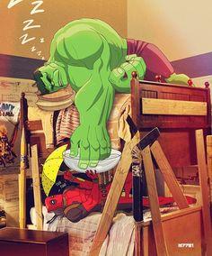 Superhero Spring Break - Deadpool n' Hulk by Marco D'Alfonso * Marvel Comics, Hero Marvel, Arte Dc Comics, Superman Hero, Comic Superheroes, Hulk Comic, Marvel Fan, Nightwing, Batwoman