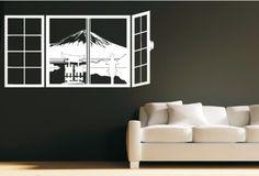 Sticker Mont Fuji par la fenêtre