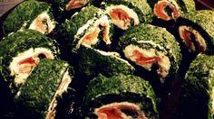 Rotolo di spinaci con salmone