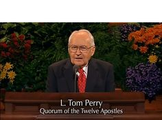 """Blessings Resulting from Reading the Book of Mormon"" ~L. Tom Perry - October 2005 General Conference #LDS #Mormon #bookofmormon CLICK TO VIEW VIDEO"