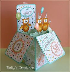 Bettys-creations: Pop Up Box Card zum 50.