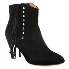 Stylish Fringe and Rivet Design Women's Short Boots