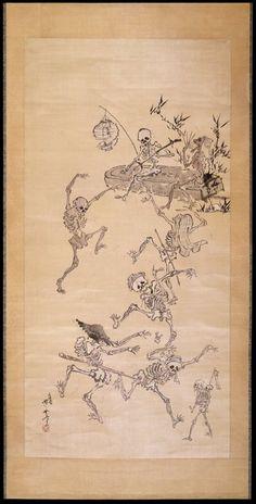 Dancing Skeletons. Kawanbe Kyosai, 19th century.