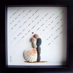 Unieke bruiloft Wedding Gift-aangepaste Gift-Pebble door MedhaRode