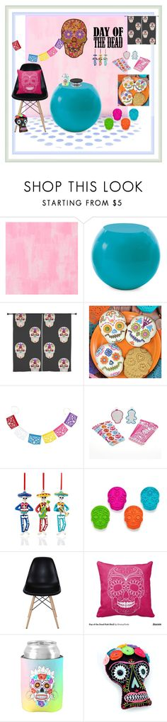 """Day of The Dead"" by jennross76 ❤ liked on Polyvore featuring interior, interiors, interior design, home, home decor, interior decorating, Designers Guild, Cappellini, Holiday Lane and Pyrex"