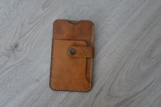 Your place to buy and sell all things handmade Iphone Leather Case, Leather Wallet, Leather Working, Hand Stitching, Scrap, Iphone Cases, Awesome, Cover, How To Make