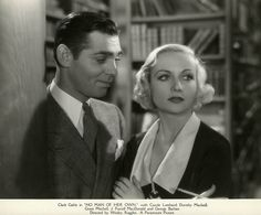 Carole Lombard, Clark Gable, No Man of Her Own, 1932 - love in the stacks!