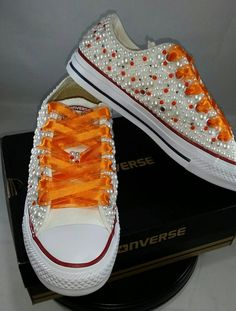 Items similar to Wedding Converse- Bridal Sneakers- Bling & Pearls Custom Converse Sneakers- Bridal Chuck Taylors- Wedding Sneakers- Converse hochzeit- Bride on Etsy Bedazzled Converse Diy, Bridal Converse, Converse Tennis Shoes, Bling Converse, Custom Converse, Converse Sneakers, Custom Shoes, Rhinestone Shoes, Bling Shoes