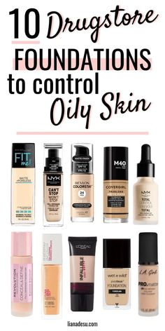 Finding the right foundation for your skin type can be tough, right? I know the struggle! If you have oily skin, this post is for you! I'm sharing the best drugstore matte foundations for oily skin, plus tips on how to keep foundation matte all day! Best Drugstore Matte Foundation, Beste Foundation, Best Foundation For Oily Skin, Maybelline Foundation, Drugstore Makeup Dupes, Best Primer For Oily Skin, Beauty Dupes, Best Drugstore Concealer, Best Cheap Foundation