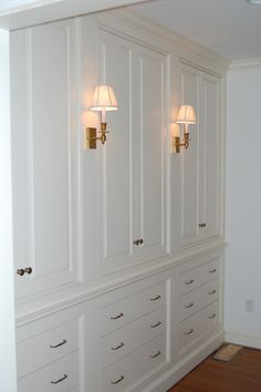 For my closet/ bathroom/ laundry. Loving the built in look