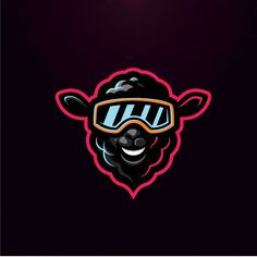 I like the colors and the outlines of the design. Beast Logo, Sheep Logo, Sheep Illustration, Sports Team Logos, Esports Logo, Bold Logo, Mascot Design, Professional Logo Design, How To Make Logo