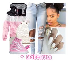 """""""@Brittny Pink & White"""" by brittnym ❤ liked on Polyvore featuring H&M, MICHAEL Michael Kors, Case-Mate and Vans"""