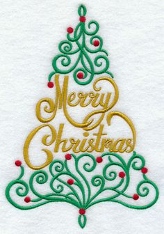 Ornate Merry Christmas Tree design (G8338) from www.Emblibrary.com                      I have had more compliments on this embroidery that I purchased from EMB.  I even sent one framed to President Donald Trump.  It was beautiful.  Hope to get a response soon.