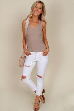In my Boyfriend Jeans White