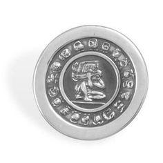 Adjustable Oxidized Mayan Calendar Ring