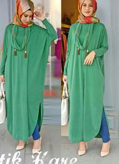 Go greeñ on blue Modest Wear, Modest Dresses, Modest Outfits, Abaya Fashion, Modest Fashion, Fashion Dresses, Stylish Hijab, Hijab Chic, Muslim Women Fashion