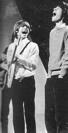 Brian and Mick having a laugh