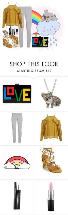 """""""lili's birthday challenge: DAY 14 (+Tag~)"""" by thefeatherwood ❤ liked on Polyvore featuring Les Petits Joueurs, Animal Planet, DKNY, Valfré, Salvatore Ferragamo, Lord & Berry, Dolce&Gabbana, MAC Cosmetics, LVX and rainbow"""