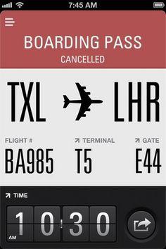 Flight Card: Univers, Univers Ultra Condensed, Proxima Nova, Neue Helvetica (fontsinuse.com)