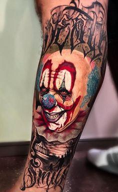 Tatuagens de palhaço: Confira 40 fotos que vai te impressionar - Eu amo tatuagens