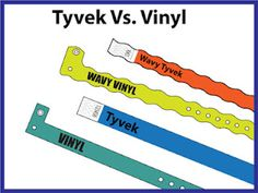 Tyvek Vs. Vinyl www.Trendywristbands.com