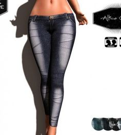 Allice Jeans With Mesh Body Appliers Group Gift by MMC