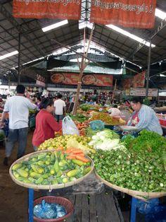 Vientiane Laos food market