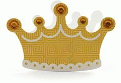 crown card - #55807-------------------------I think I'm in love with this shape from the Silhouette Design Store!
