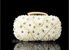 Garantía de calidad con cuentas bolsos de embrague mujeres de perlas bordadas monedero de la cena 2015 de noche moldeado del bolso que rebordea el bolso 7531(China (Mainland))
