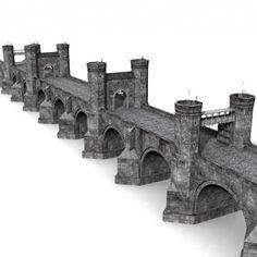 3d medieval bridge model - Bridge by Medievalworlds from TurboSquid.com