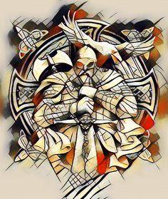 Modern Viking Warrior Painting.
