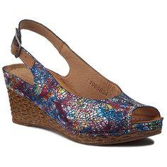 Sandále POLLONUS - 5824 Kwiaty Granat