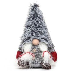 Nordic Girl Gnome with Fuzzy Hat – MilandDil Designs