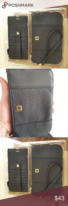 Lotus wristlet clutch and  credit card set Brand new large wristlet with credit card slot lotus Bags Clutches & Wristlets