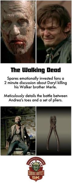 YES!!!!!  UGH! SO mad about this!  >:/. Yep, definitely coulda spent more time with Daryl having to kill Merle. :-(