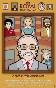 The Royal Tenenbaums by geekboypress on Etsy