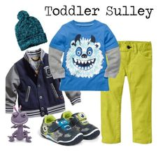 Toddler Sulley Monsters Inc inspired fashion by linneyshvede on Polyvore featuring Carter's, Gap, GUESS kids and Stride Rite