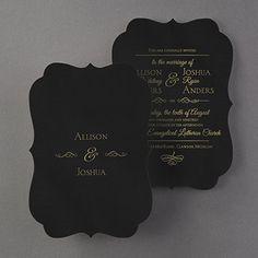 Posh Plush - Invitation - Black Velvet